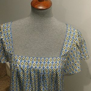 Banana Republic Tops - Large Banana Republic Silk Top Blue & Green